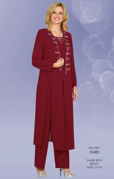 Ladies Special Occasion Suits   BenMarc Misty Lane Special Occasion Pant Suit 13423 with Duster image