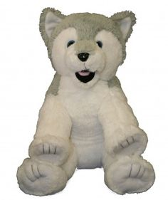 "Singing 16"" plush Husky Dog which plays custom music featuring your child's name."
