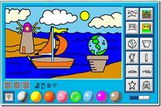 Sean's Magic Slate: Easy colouring program for children