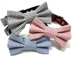 Dog Collar Bow - Bowtie - Bow Tie Attachment - CHOOSE YOUR STYLE. $12.00, via Etsy.