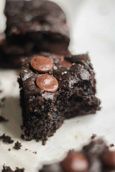 This recipe is filled with chocolate and sea salt and is the best paleo dessert. No mixer or blender required! It's filled with flavor and gluten free, grain free, refined sugar free and you would never know. They're the best and so easy to make!