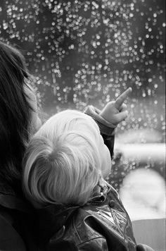 A mother will sit with you and listen to the Rain. I love rain. I Love Rain, No Rain, Rain Fall, Walking In The Rain, Singing In The Rain, Rainy Night, Rainy Days, Black White Photos, Black And White Photography