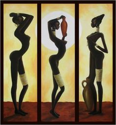 African Art gallery for African Culture artwork, abstract art, contemporary art daily, fine art, paintings for sale and modern art Contemporary Art Daily, Modern Art, African Art Paintings, African Sculptures, Wall Art Wallpaper, Africa Art, Diy Canvas Art, Female Art, Bunt