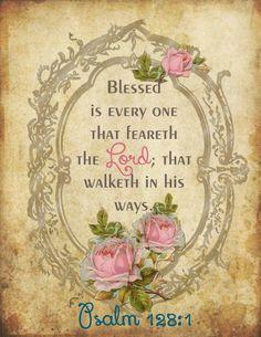 Psalm 128:! KJV