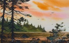 Landscape Painting - Tideland Dawn by James Williamson