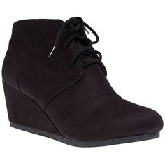 Fortune Dynamics  Cityclassified Demi Wedge Booties (173720 PYG) ❤ liked on Polyvore featuring shoes, boots, ankle booties, black, wet seal, high heel boots, black boots, black laced boots, lace up ankle booties and black high heel booties