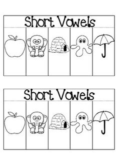 FREE Short Vowels Interactive Notebook Activity