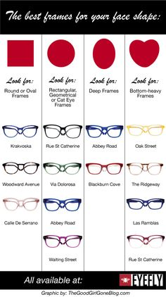 How to choose the right #glasses for your face shape!