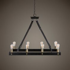 Lowest price online on all Uttermost Marlow 8 Light Rectangle Chandelier - 21279 Hanging Chandelier, Hanging Lights, Chandelier Lighting, Uttermost Lighting, Cabin Lighting, Farmhouse Lighting, Rustic Mirrors, Rustic Wall Decor, Barn Wood Picture Frames