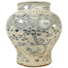 1stdibs | Massive Korean Blue and White Porcelain Jar  Add Cherry Blossoms!!