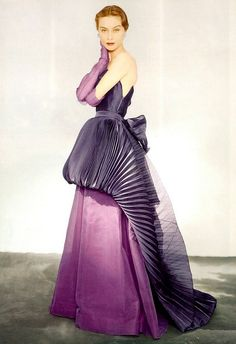 An absolutely exquisite evening gown by Elsa Schiaparelli