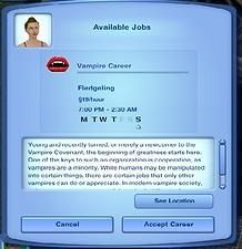 Mod The Sims - Vampire Covenant - Requested Career