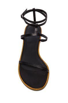 Tibi's skinny strapy sandal in black