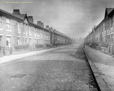 Brompton Road, Rusholme/Moss Side, 1922. by mcrarchives, via Flickr