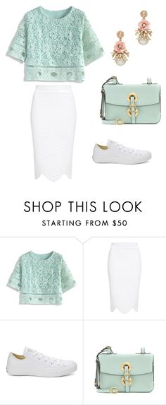 """Untitled #1454"" by krissybob ❤ liked on Polyvore featuring Chicwish, Alexander McQueen, Converse and Valentino"