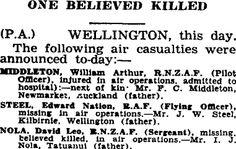 Auckland Star 12/05/1941 William Arthur, Auckland, Family History, Air Force, Star, Stars, Genealogy