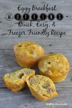 Eggy Breakfast Muffins versatile easy and delicious and best of all FREEZ Campfire Food Homemade Breakfast, Best Breakfast Recipes, Brunch Recipes, Breakfast Muffins, Egg Muffins, Kid Breakfast, Campfire Food, Real Food Recipes, Healthy Recipes