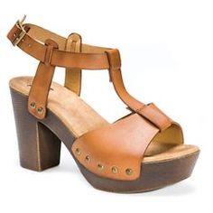 Women's MUK LUKS® Gindy Quarter Strap Clog Sandals - Cognac