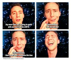 Love Tom Hiddleston laughing with abandon in the last panel.