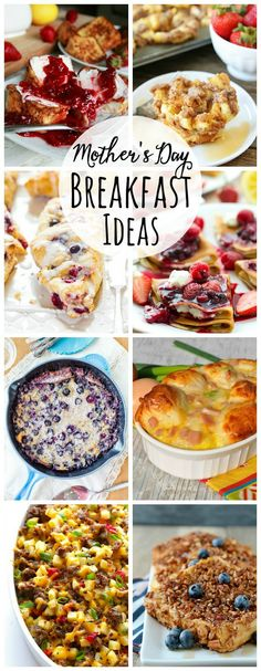 Delicious brunch recipes perfect for Easter breakfast or Mother's Day.