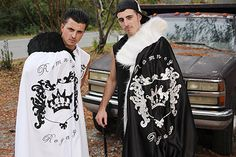 For their 18th birthday party, twins Tommy and Teddy wear coordinating gypsy royalty ensembles.