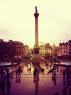 Trafalgar Square in London. One of my favorite places.