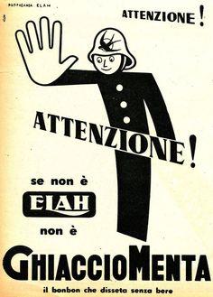Vintage Italian Posters ~ #illustrator #Italian #posters ~ Food imaginary modern Italy it is said - 1949 - Elah