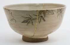 Tea Bowl with poem on the reverse: by Otagaki Rengetsu ............. Still Crimson, In the shade of the maple leaves, I take cover......Somehow a happy event.........To feel the first rain of winter. Rengetsu