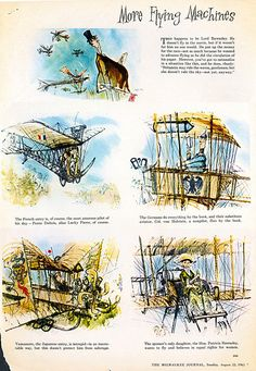 Image result for those magnificent men in their flying machines ronald searle