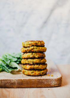 golden split pea patties (vegan, GF) - The First Mess