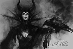 Maleficent and Raven. This is my mother favorite villain! Baba Yaga, Disney Love, Disney Magic, Dark Disney, Disney Girls, Disney Villains, Disney Pixar, Maleficent Drawing, Fairy Tail