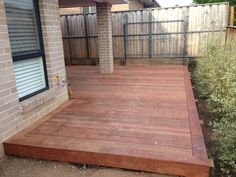 Back deck - merbu close to ground.