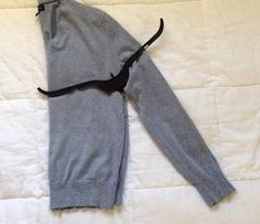 how to hang a sweater on a hanger and not stretch it out. Mind blown.