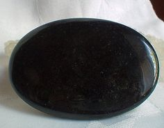 Polished Black Obsidian Palmstone~Reiki~Crystal Healing~Protection~Meditation