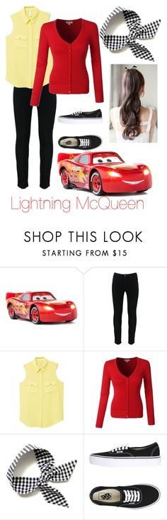 """""""Lightning McQueen/Betty Cooper"""" by princessestrada on Polyvore featuring Sphero, MANGO and Vans"""
