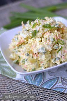 Hawaiian Potato Salad   cookingwithcurls.com   #sidedish #hawaiianfavorite