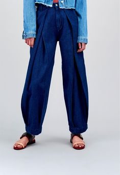 Leila Pleat Hemp Rinse - Pants Women > Women Pants | Kings Of Indigo Official Shop