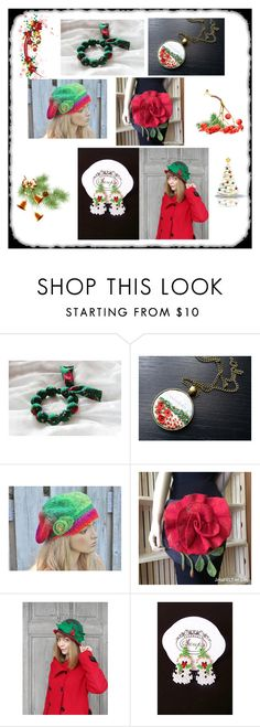 """""""red and green by Poletsy"""" by black-passion ❤ liked on Polyvore featuring filcalki, blackpassion, szupa and degra"""