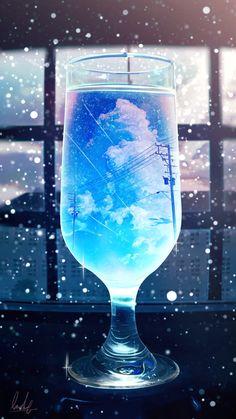 """【オリジナル】""""Marine snow"""" / Illustration by """"banishment"""" [pixiv] Anime Scenery Wallpaper, Galaxy Wallpaper, Wallpaper Backgrounds, Anime Kunst, Anime Art, Pretty Wallpapers, Pretty Art, Aesthetic Art, Easy Drawings"""