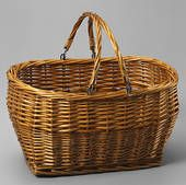 Great sized wicker basket.  You can use them all over the house for a variety of things.
