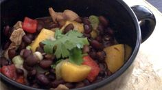 Black Bean, Chicken & Mango Stew