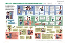 Immigration Flow Chart Health Infographics