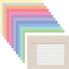 Digital Time Sheets for iPad in assorted colors