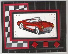 KK's fast red corvette by Kheila Kirwan - Cards and Paper Crafts at Splitcoaststampers