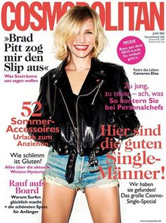 Magazine photos featuring Cameron Diaz on the cover. Cameron Diaz magazine cover photos, back issues and newstand editions. Cosmopolitan Magazine, Instyle Magazine, Cameron Diaz, Celebrity Magazines, Celebrity Photos, Brad Pitt, Elle Marie, List Of Magazines, Gangs Of New York