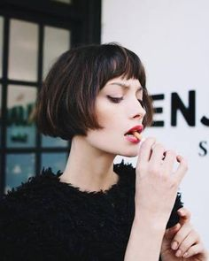 Image result for short blunt bob with bangs