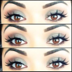 Soft Brown Smokey eye with Ardell lashes #134