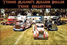 Tyrone Malones collection of Kenworth drag trucks