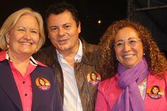Da esquerda para a direita: Ana Amélia Lemos (Senadora), Rogério Amaral (Candidato a Vereador nº 40400) e Abgail Pereira (Secretária de Turismo) - Foto: Fátima Oliveira
