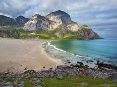 Bunes, Lofoten Islands, Norway, Moskenesøya, beach